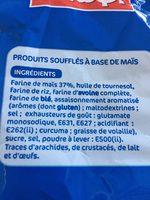 Snacks soufflés tornades nature - Ingrediënten - fr