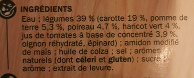 Potage gourmand carottes poireaux - Ingredients - fr