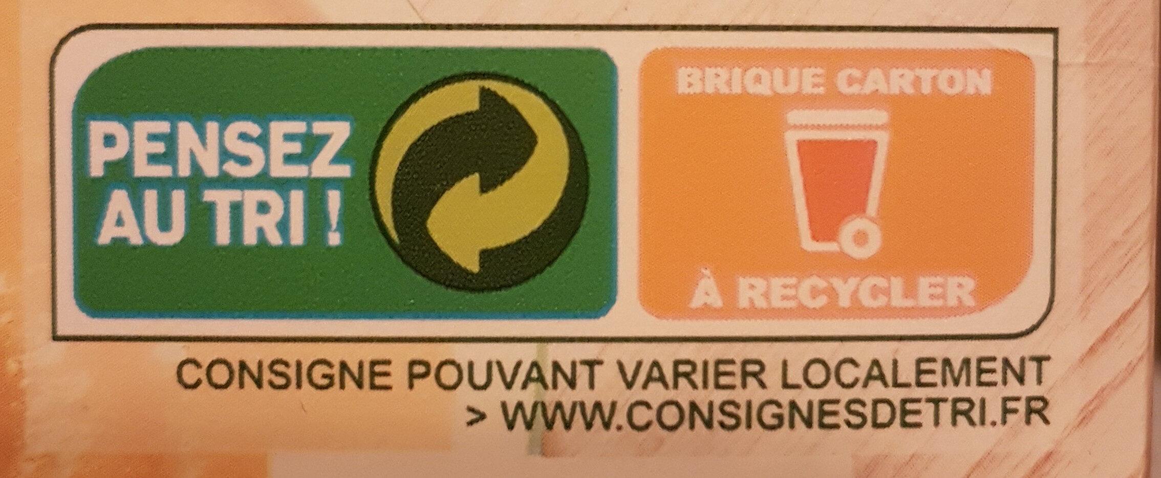 Potage gourmand carottes poireaux - Instruction de recyclage et/ou informations d'emballage - fr
