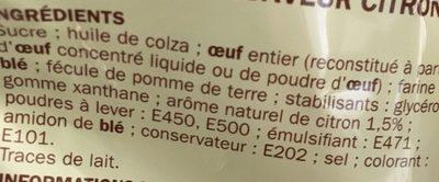 Prepa gateau moelleux citron - Ingrediënten - fr