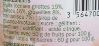 Confiture 4 fruits rouges - Ingredients - fr