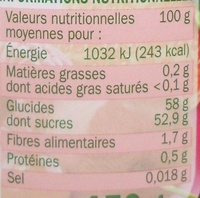 Confiture 4 fruits rouges - Nutrition facts - fr