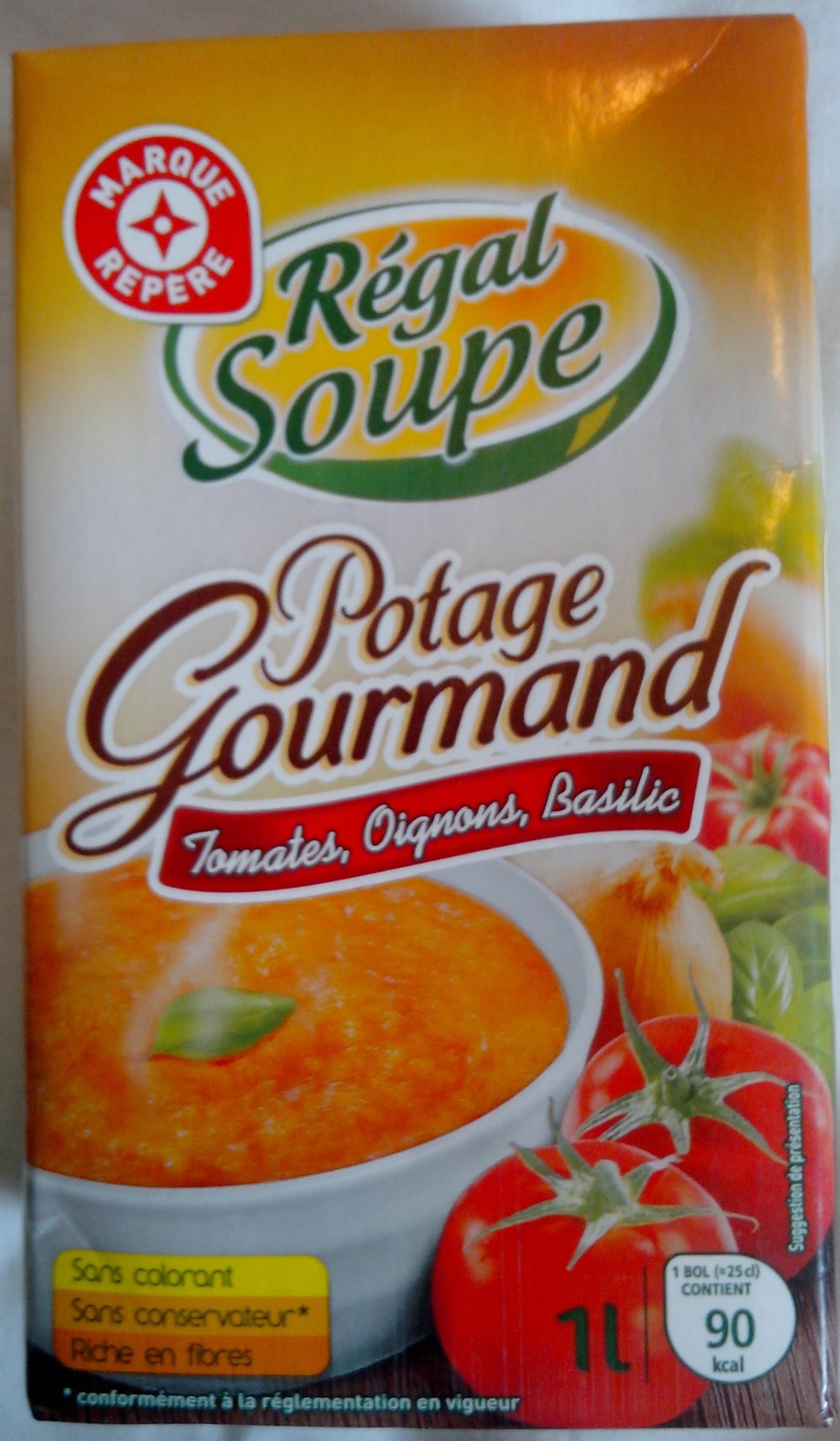 Potage gourmand tomates, oignons et basilic - Product