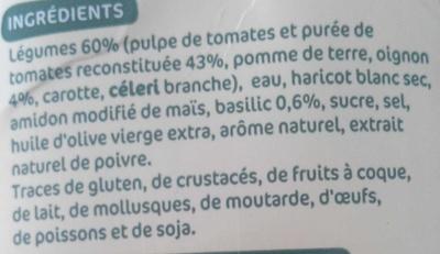 Potage gourmand tomates, oignons et basilic - Ingredients - fr
