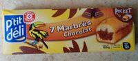 Mini marbrés chocolat x 7 - Product
