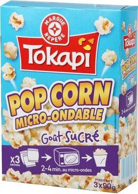 Pop corn sucré micro-ondable 90 g x 3 - Product