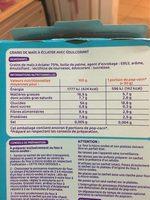 Pop corn sucré micro-ondable 90 g x 3 - Voedigswaarden