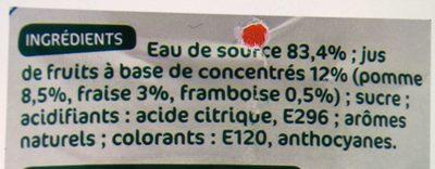 Boisson fraise framboise - Ingrediënten