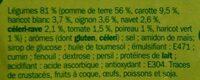 Mouliné de 9 légumes deshy - Ingrédients - fr