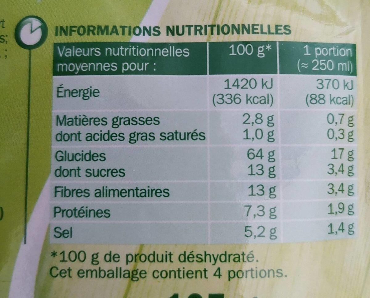 Mouliné de 9 légumes - Informations nutritionnelles - fr