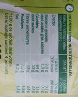 Mouliné de 9 légumes deshy - Informations nutritionnelles - fr