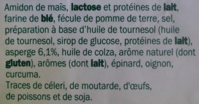 Soupe déshydratée crème asperge - Ingrédients - fr