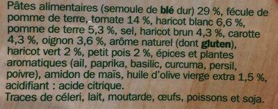 Soupe deshydratée minestrone - Ingredients - fr