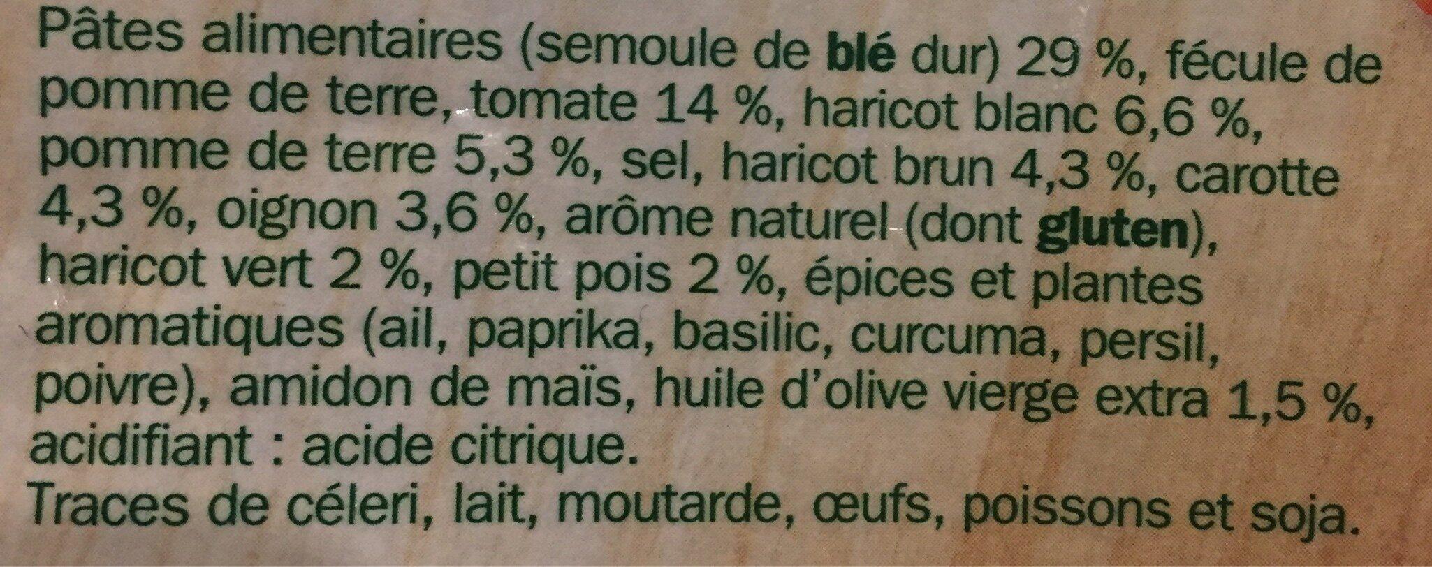 Soupe deshydratée minestrone - Ingrédients - fr