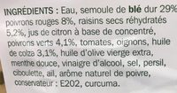 Taboulé à l'oriental - Ingrediënten - fr