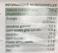 Taboulé à l'oriental - Nutrition facts