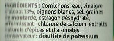 Cornichons fins croquants - Ingrediënten