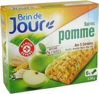 Barres céréales pomme verte - Produit - fr