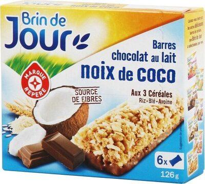 Barres céréales chocolat au lait noix de coco x 6 - Product - fr