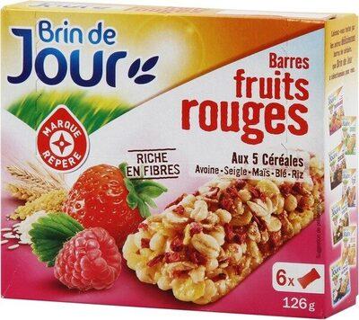Barres céréales fruits rouges x 6 - Produit - fr