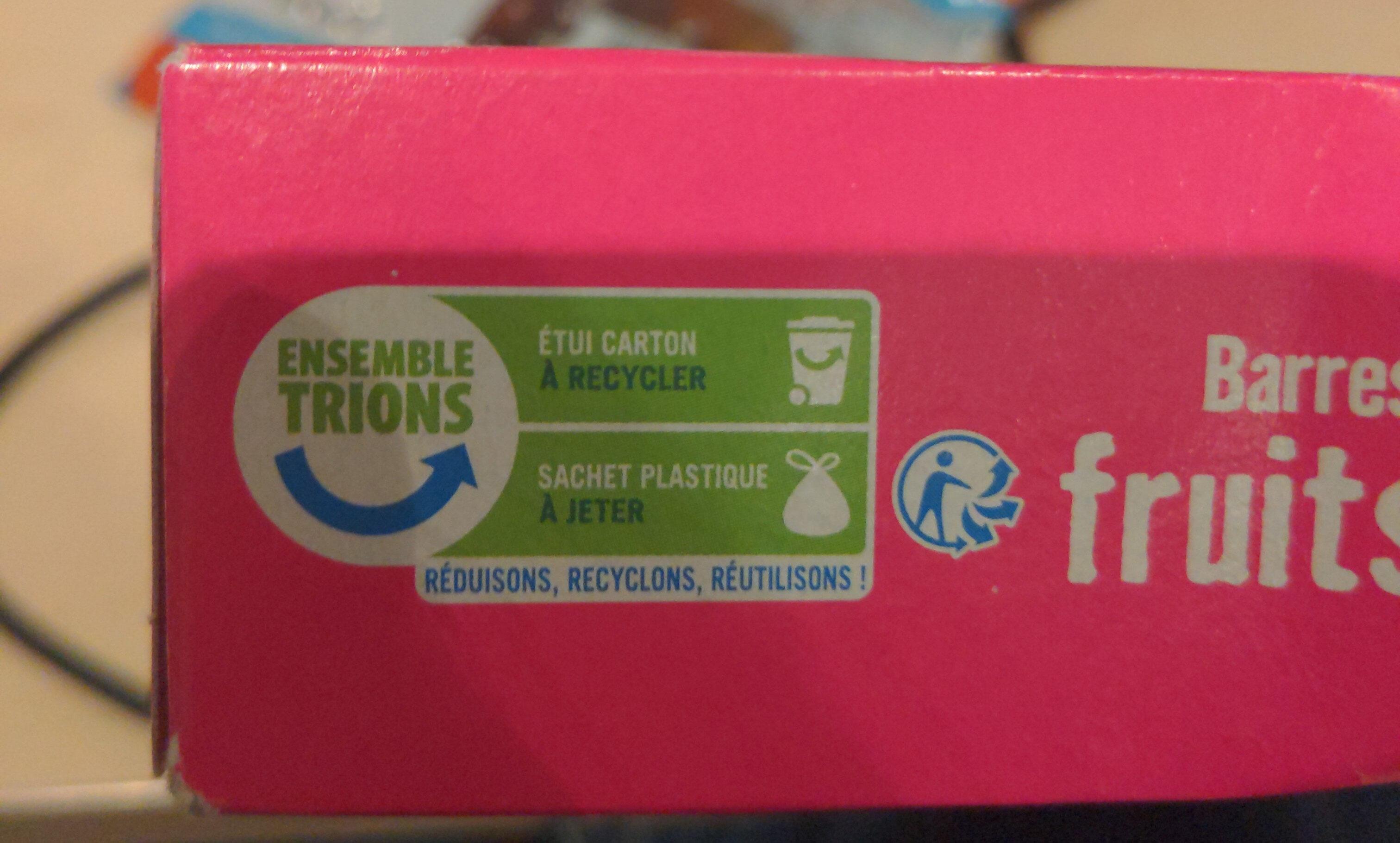 Barres céréales fruits rouges x 6 - Instruction de recyclage et/ou informations d'emballage - fr