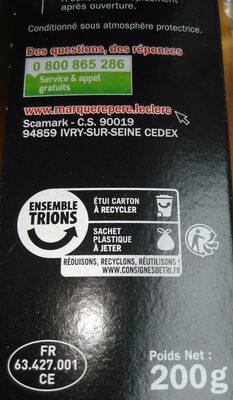 Spécialité saucisson sec - Recyclinginstructies en / of verpakkingsinformatie - fr