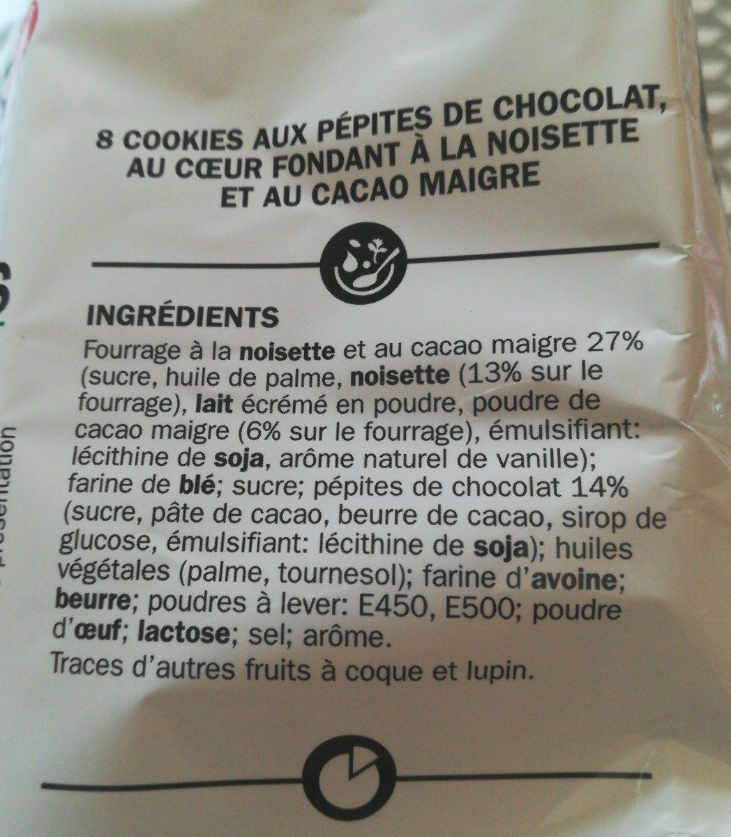 Cookies premium coeur fondant à la noisette - المكونات - fr
