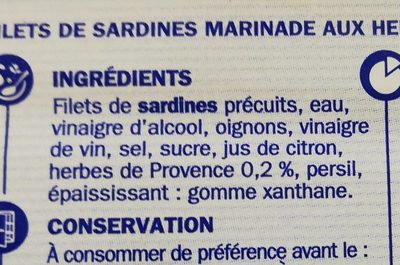 Filets sardine herbes de Provence - Ingredients - fr