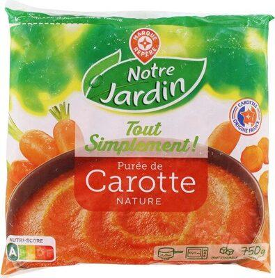 Purée de carottes nature - Produit