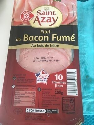 Bacon 10 tranches - Product - fr