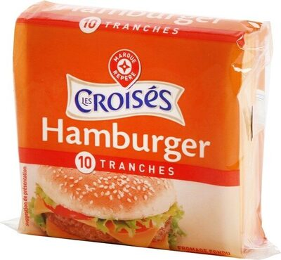Tranches de fromage fondu au cheddar pour hamburger x 10 - Product - fr