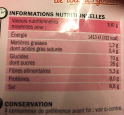Sauce à l'échalote déshydratée - sachet - Informations nutritionnelles - fr