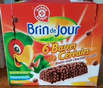 6 barres de céréales boules goût chocolat et lait - Produit - fr