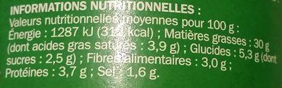 Pesto verde - Informations nutritionnelles - fr
