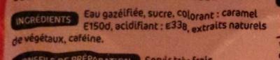 Soda cola - 12 x 15 cl UNITÉ - Ingredienti - fr