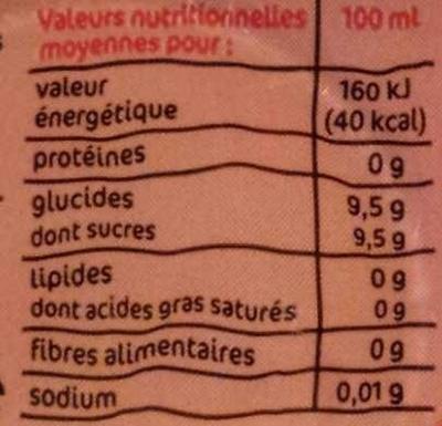 Soda cola - 12 x 15 cl UNITÉ - Informazioni nutrizionali - fr