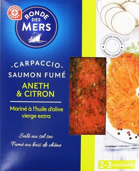Carpaccio de saumon fumé aneth et citron - Product