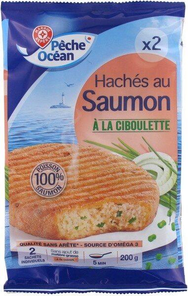 Hachés au saumon à la ciboulette x 2 - Product