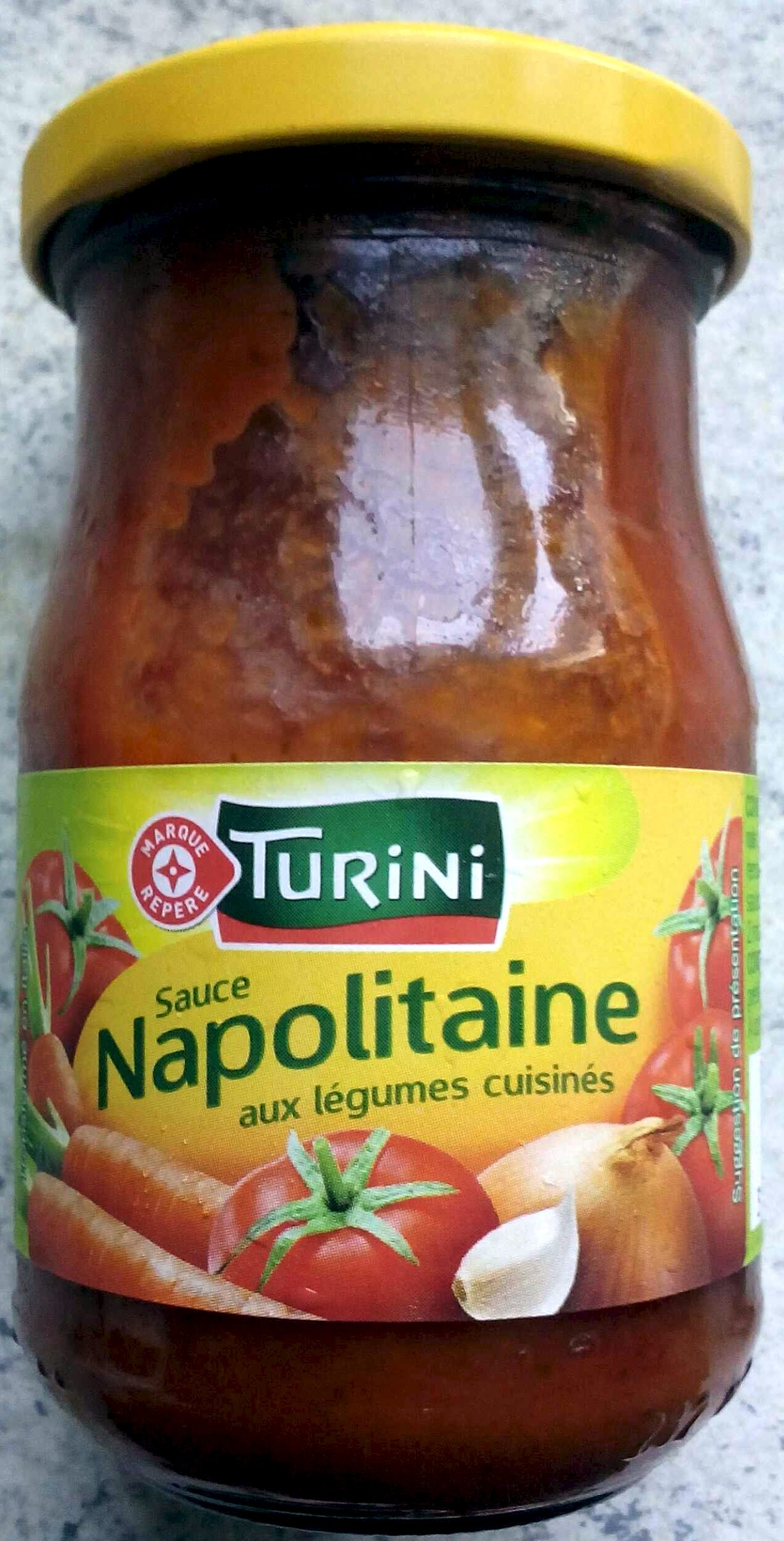 sauce napolitaine aux l gumes cuisin s turini 190 g 212 ml. Black Bedroom Furniture Sets. Home Design Ideas