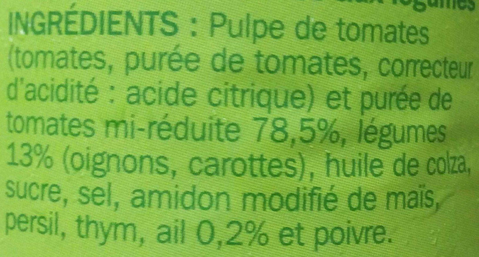 Sauce napolitaine aux l gumes cuisin s turini 190 g 212 ml - Acide citrique leclerc ...