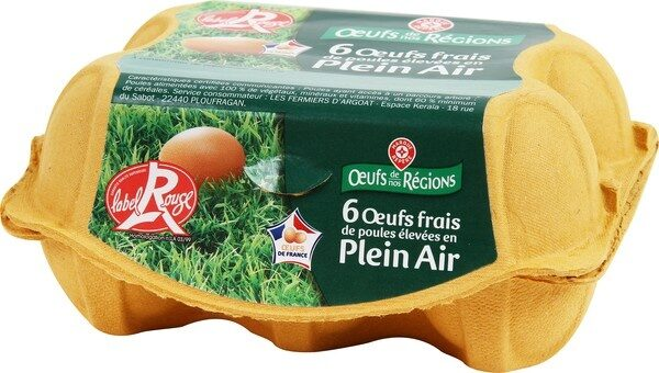 Oeufs plein air Label Rouge x6 - Product - fr