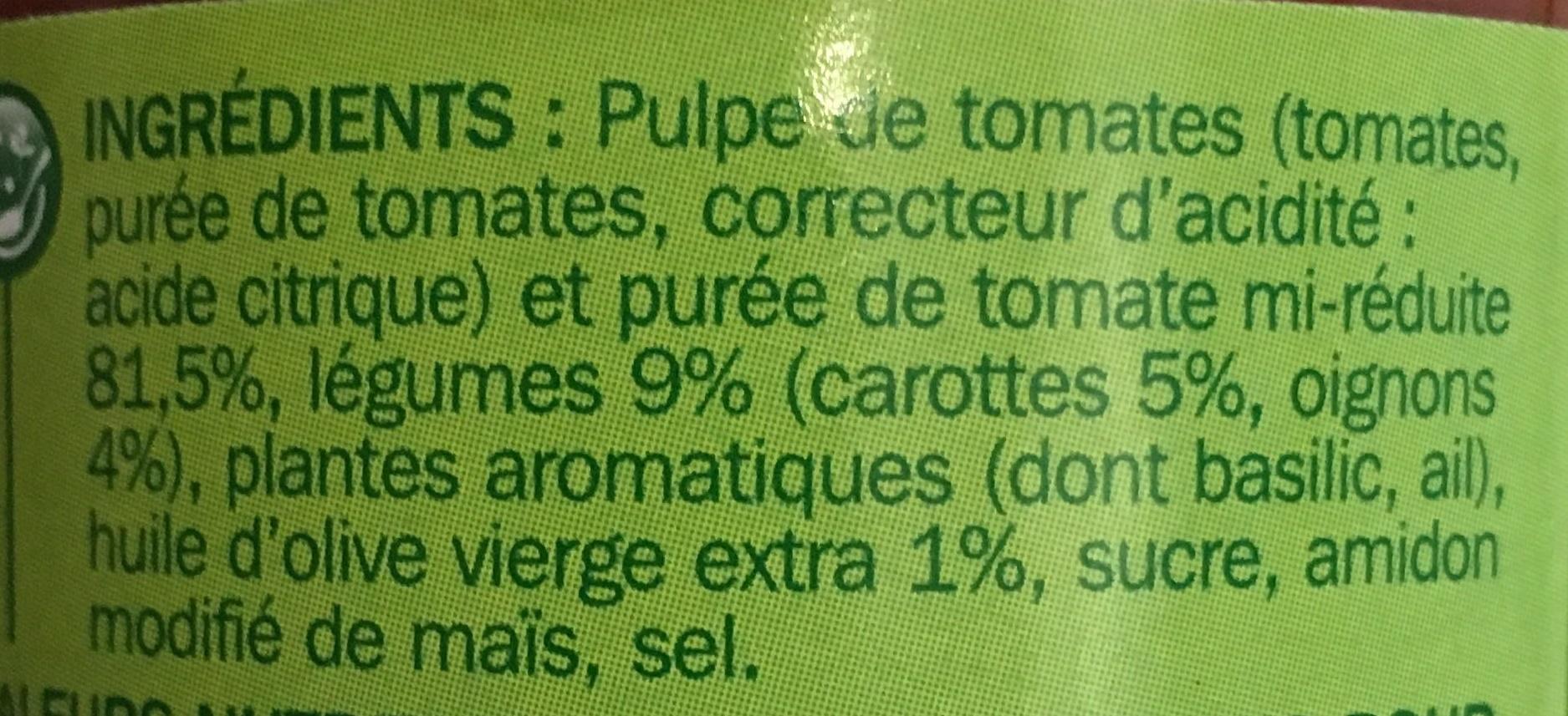 Sauce provencale - Ingrédients - fr