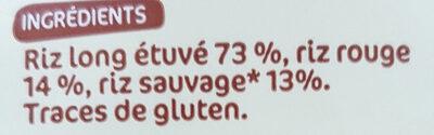 Sélection de 3 riz - Ingrédients - fr