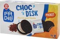 Biscuits cacaotés fourrés goût vanille - Produit