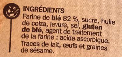 Petits pains grillés au froment - Ingrédients