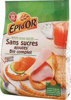 Petits pains grillés au blé complet sans sucres ajoutés - Product