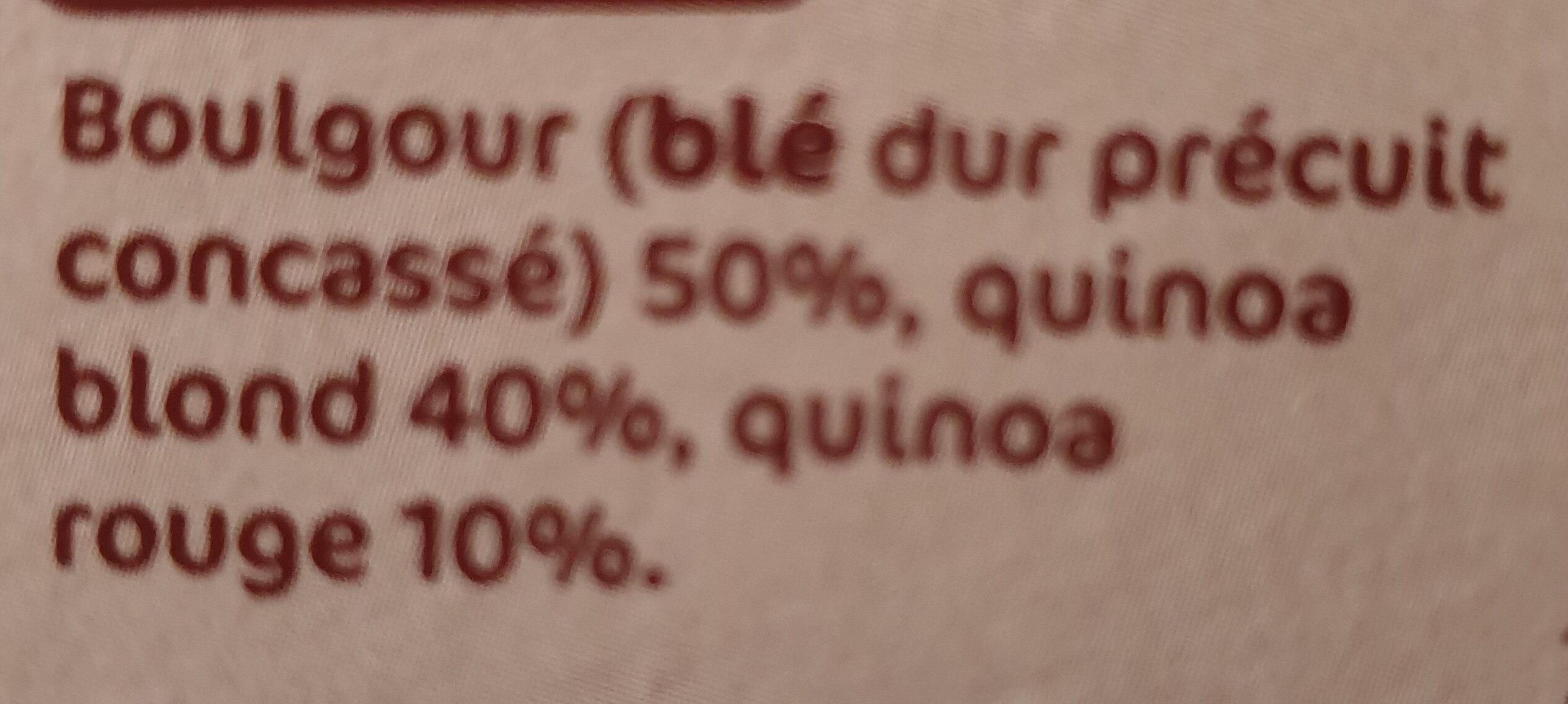 Duo céréale et graines (quinoa et boulgour) - Ingrediënten - fr