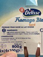 Fromage blanc sucré - Ingrédients - fr