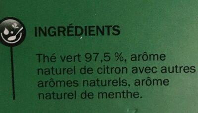 Thé vert 25 sachets - Ingrédients - fr