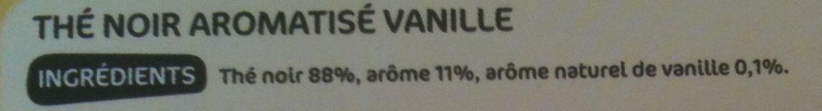 Thé Aromatisé Vanille - Ingrédients